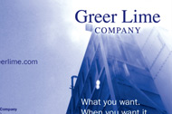 Greer Lime Brochure and Booth